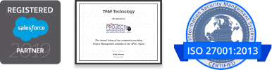 Website Footer - TP&P Technology - ISO 27001 Certified Commpany